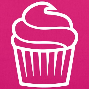 cupcake one-colored cupcake un-colorate Borse & zaini - Borsa ecologica in tessuto