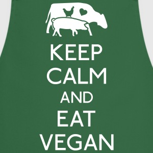 Keep Calm eat vegan  Aprons - Cooking Apron