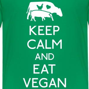 Keep Calm eat vegan Shirts - Kids' Premium T-Shirt