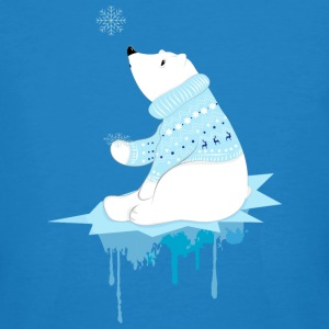Polar bear with snowflakes T-Shirts - Men's Organic T-shirt