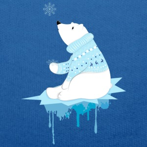 Koningsblauw Polar bear with snowflakes Knuffeldieren - Teddy