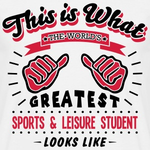 sports  leisure student worlds greatest  - Men's T-Shirt