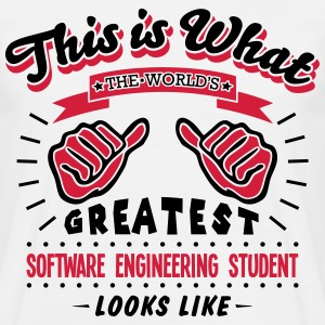 software engineering student worlds grea - Men's T-Shirt