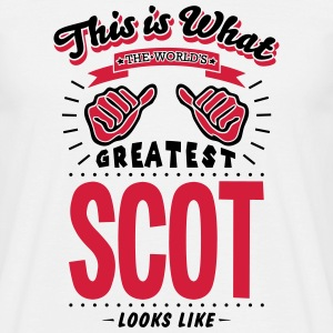 scot worlds greatest looks like - Men's T-Shirt