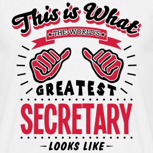 secretary worlds greatest looks like - Men's T-Shirt