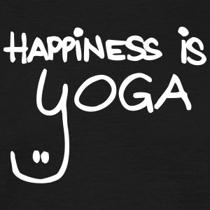 happiness is yoga - Männer T-Shirt