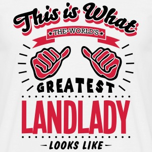 landlady worlds greatest looks like - Men's T-Shirt