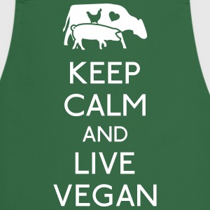 Keep Calm live vegan  Aprons - Cooking Apron