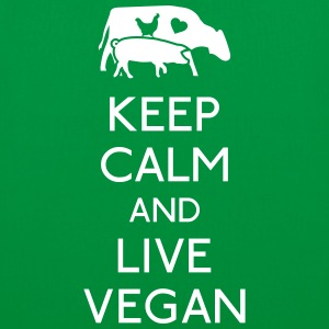 Keep Calm live vegan Bags & Backpacks - Tote Bag