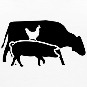 Cow, pig and cock Tops - Women's Premium Tank Top