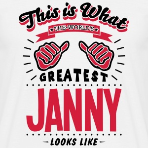 janny worlds greatest looks like - Men's T-Shirt