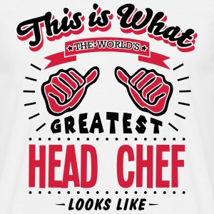 head chef worlds greatest looks like - Men's T-Shirt