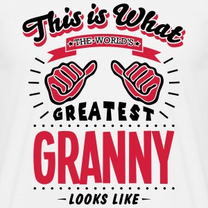 granny worlds greatest looks like - Men's T-Shirt