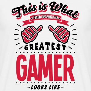 gamer worlds greatest looks like - Men's T-Shirt