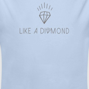 Like a diamond Babybody - Økologisk langermet baby-body