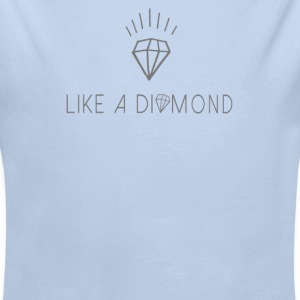 Like a diamond Body neonato - Body ecologico per neonato a manica lunga