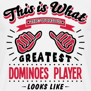 dominoes player worlds greatest looks li - Men's T-Shirt