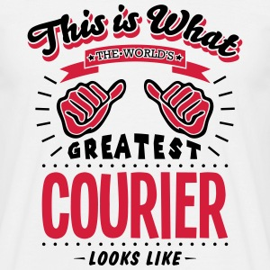 courier worlds greatest looks like - Men's T-Shirt