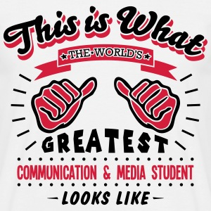 communication  media student worlds grea - Men's T-Shirt