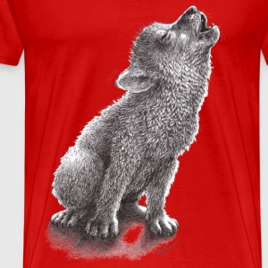 loup hurlement Tee shirts - T-shirt Premium Homme