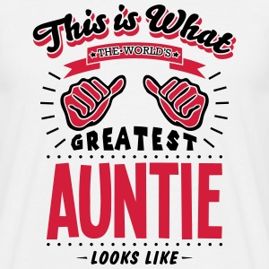 auntie worlds greatest looks like - Men's T-Shirt