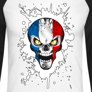 skull france 03 Manches longues - T-shirt baseball manches longues Homme