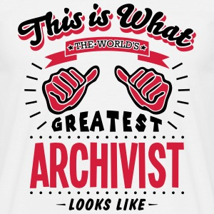 archivist worlds greatest looks like - Men's T-Shirt
