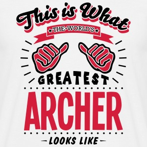 archer worlds greatest looks like - Men's T-Shirt