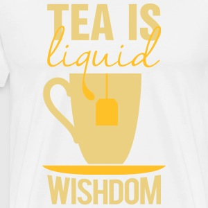 tea is liquid wisdom T-shirts - Mannen Premium T-shirt