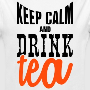 keep calm and drink tea Baby Bodysuits - Longlseeve Baby Bodysuit
