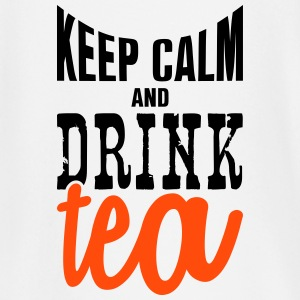 keep calm and drink tea Tee shirts manches longues Bébés - T-shirt manches longues Bébé
