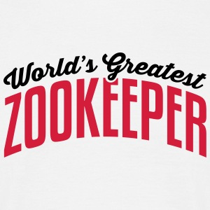 worlds greatest zookeeper 2col copy - Men's T-Shirt