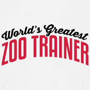 worlds greatest zoo trainer 2col copy - Men's T-Shirt