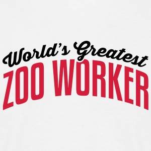 worlds greatest zoo worker 2col copy - Men's T-Shirt