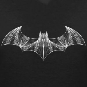 Batman Logo 'Drawing' Women T-Shirt - Dame-T-shirt med V-udskæring