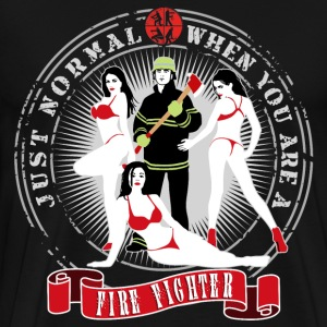 just_normal_when_you_are_a_fire_fighter_ T-Shirts - Männer Premium T-Shirt