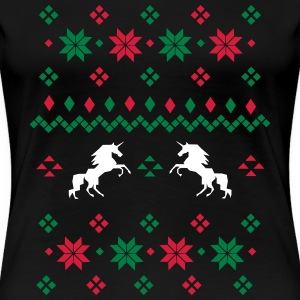 Ugly Christmas Sweater T-shirts - Vrouwen Premium T-shirt