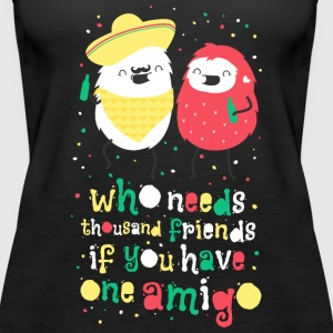 Amigos - best friends Tops - Women's Premium Tank Top