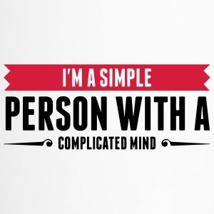 I m a simple person with a Complicated Mind (2015) Mugs & Drinkware - Travel Mug