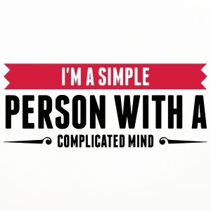 I m a simple person with a Complicated Mind (2015) Mugs & Drinkware - Coasters (set of 4)