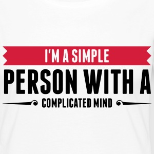 I m a simple person with a Complicated Mind (2015) Long Sleeve Shirts - Women's Premium Longsleeve Shirt