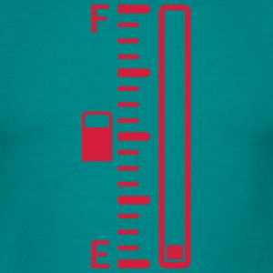 empty tank indicator bar tacho tachometer refuel s T-Shirts - Men's T-Shirt