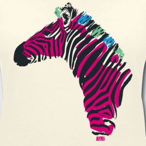 Animal Planet Women T-Shirt Zebra - Women's V-Neck T-Shirt
