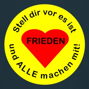 Welt-Frieden - peace all over the world - Männer T-Shirt