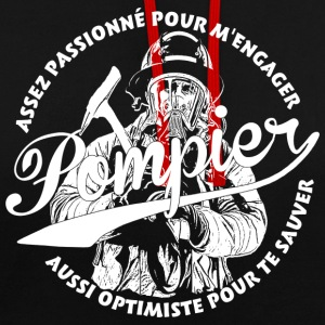 Pompier - Sweat-shirt contraste