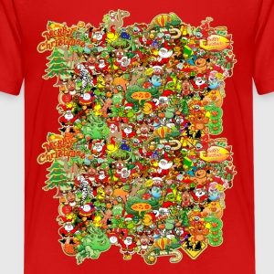 In Christmas Melt into the Crowd and Enjoy Shirts - Teenage Premium T-Shirt
