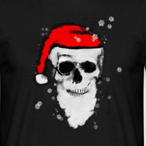 Skull Artwork - Santa Claus. T-skjorter - T-skjorte for menn