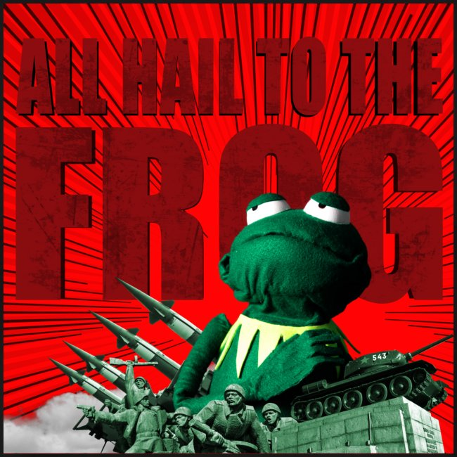 """T-Shirt """"All hail to the Frog"""" bis 5Xl"""