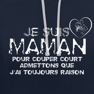 Je suis maman - Sweat-shirt contraste