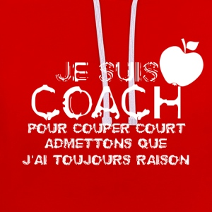 Je suis coach - Sweat-shirt contraste